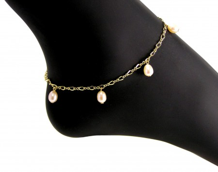Pink Freshwater Pearl Anklet