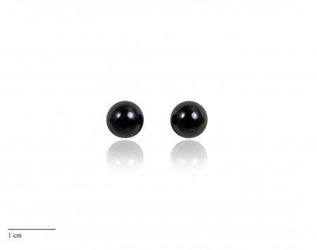 Black Freshwater Pearl Stud Earrings