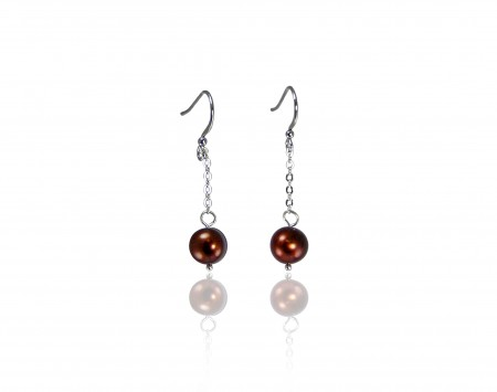 Chocolate Freshwater Pearl Earrings