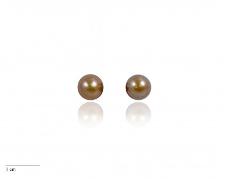 Chocolate Freshwater Pearl Stud Earrings