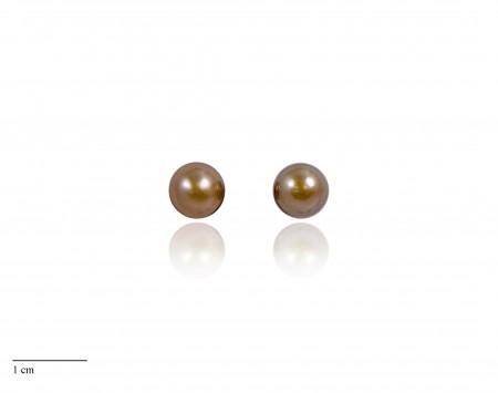 Chocolate Freshwater Pearl Stud Earrings