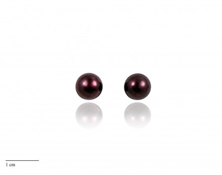 Cranberry Freshwater Pearl Stud Earrings