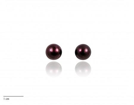 Cranberry Freshwater Pearl Stud Earrings