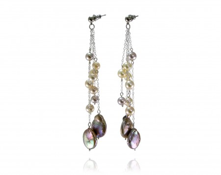 Multicolor Freshwater Pearl Earrings
