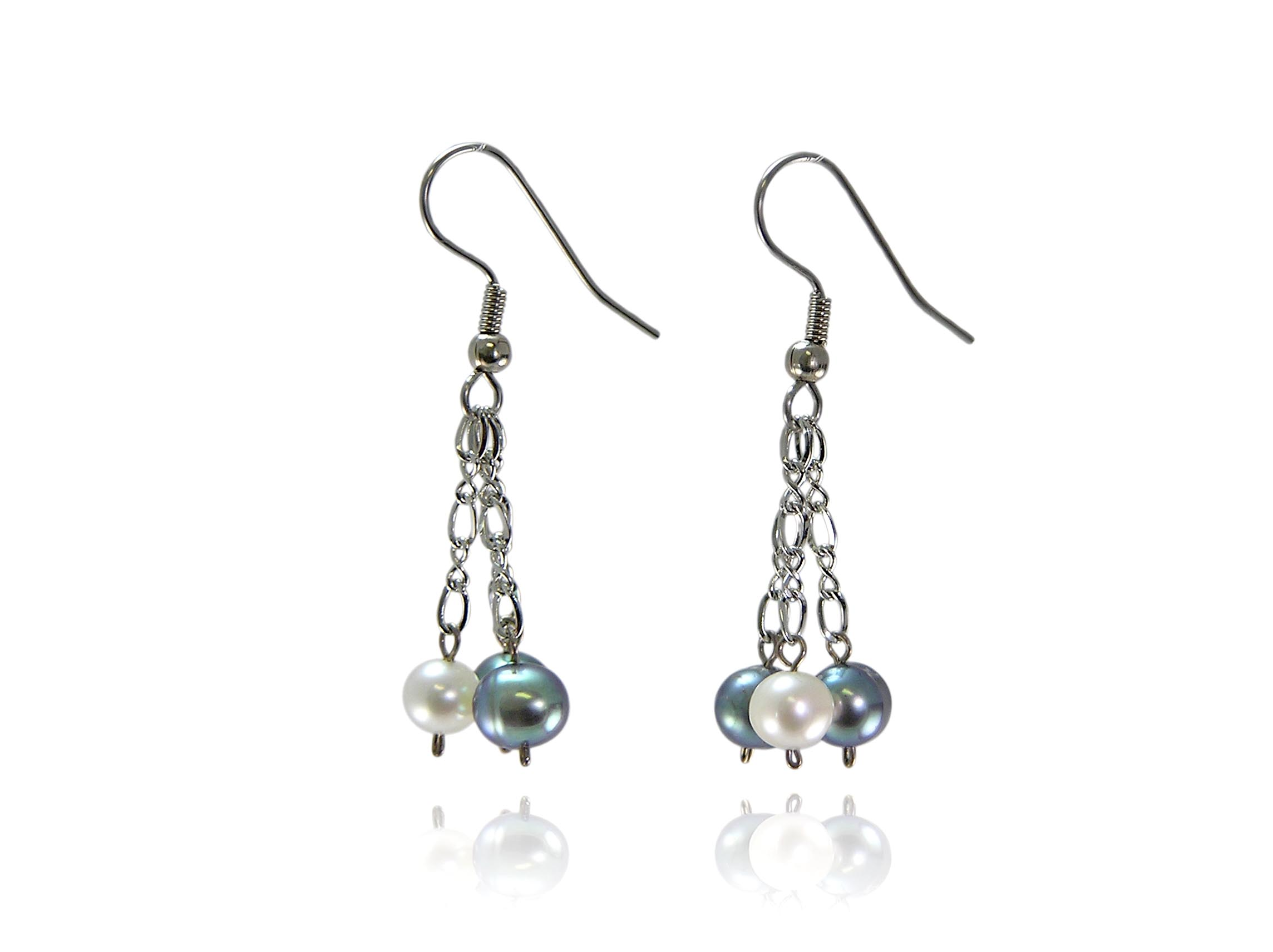 Multi-color Freshwater Pearl Earrings