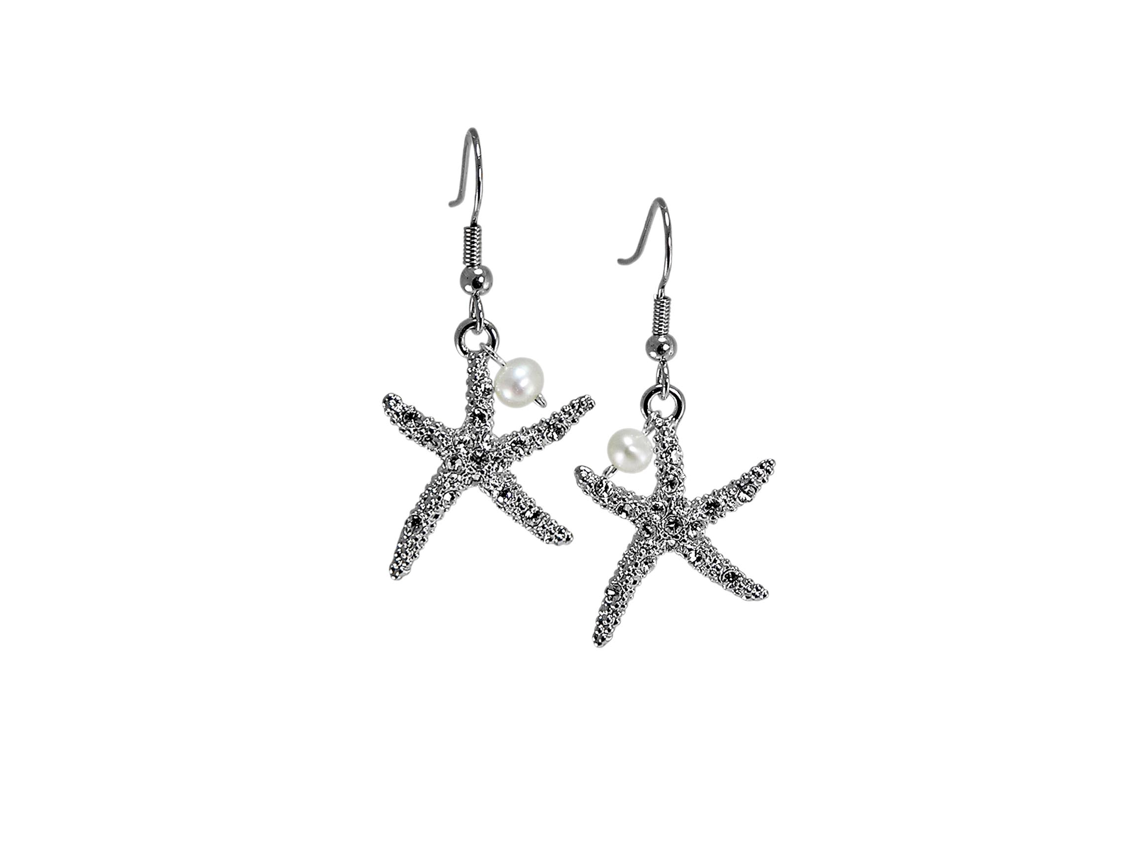 Swarovski Crystal Starfish Earrings