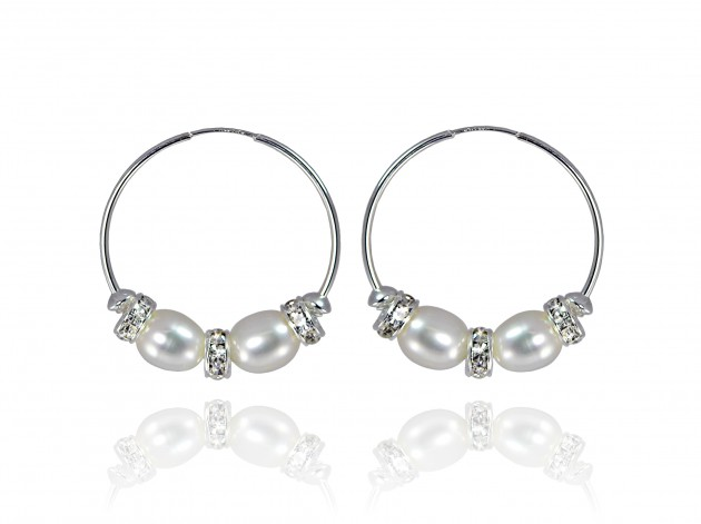 White Freshwater Pearl Earrings