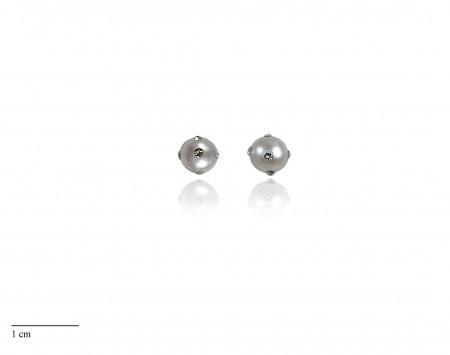 White Freshwater Pearl Stud Earrings