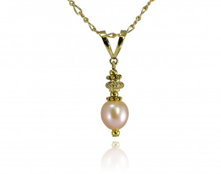 Peach Freshwater Pearl Pendant