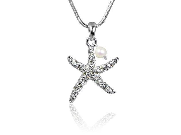 Pearl Starfish Pendant