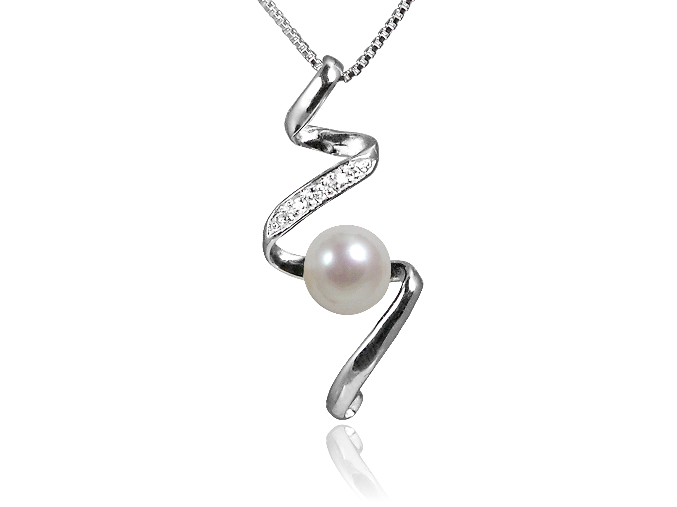 white necklace gold pearl diamonds l single saya pendant cttw