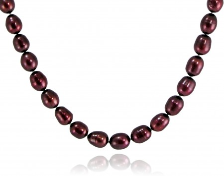 Cranberry Freshwater Pearl Necklace