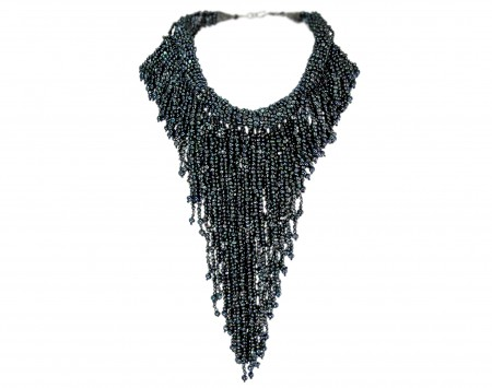 Black Peacock Freshwater Pearl Necklace