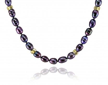 Plum Freshwater Pearl Necklace