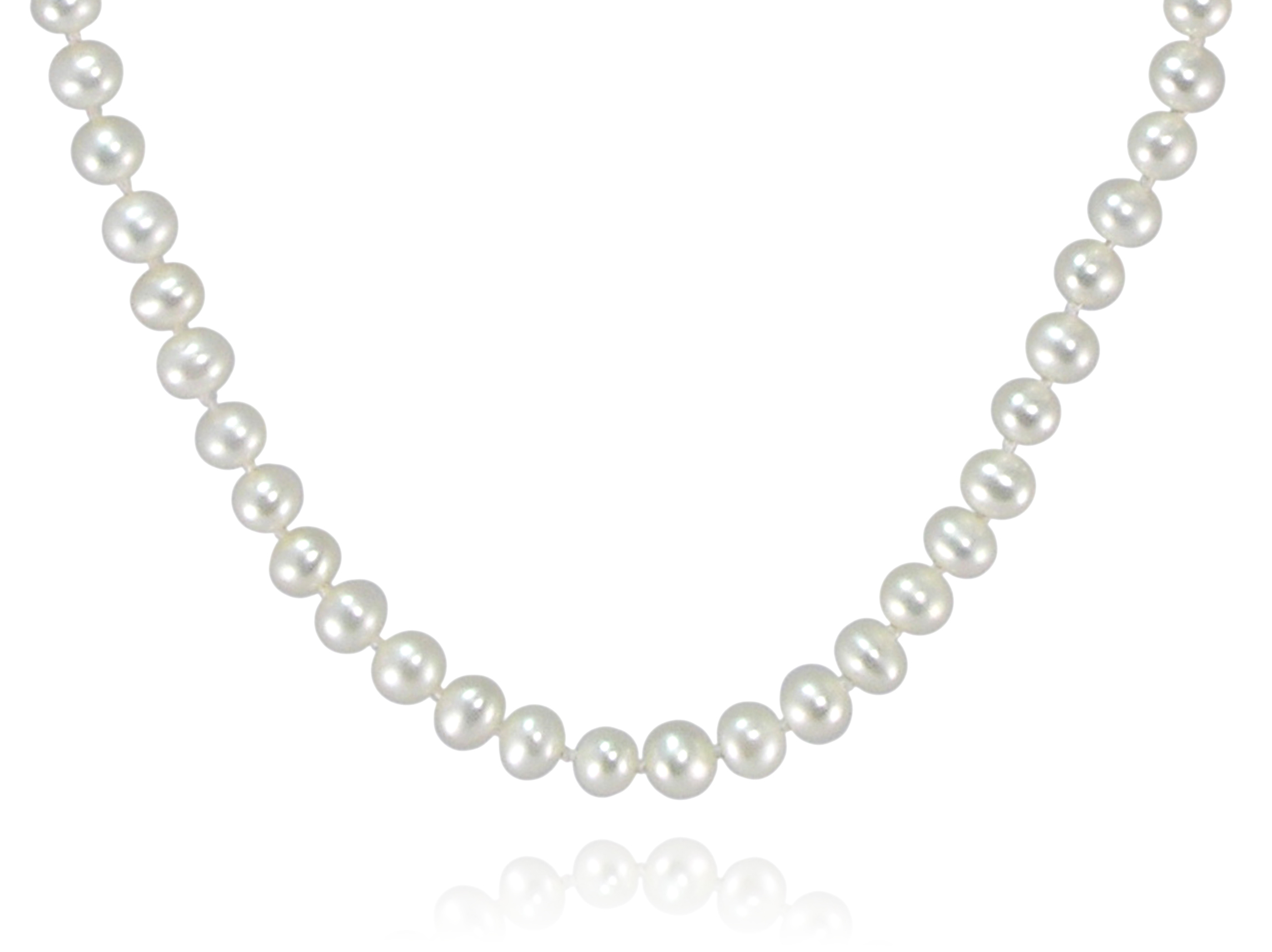 traditional white freshwater pearl necklace pearls