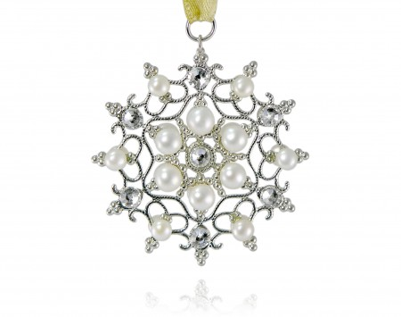White Freshwater Pearl Ornament