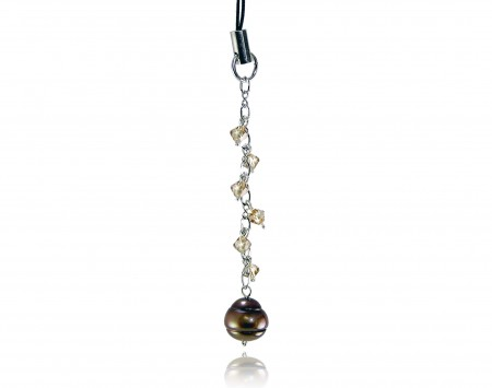 Chocolate Freshwater Pearl Phone Charm