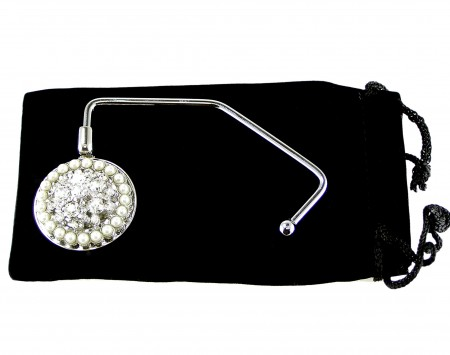 Simulated Pearl Purse Hanger