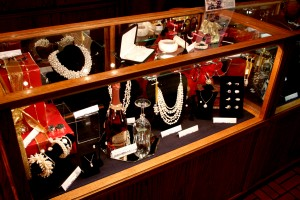 Beautifully decorated cases at Pearls International