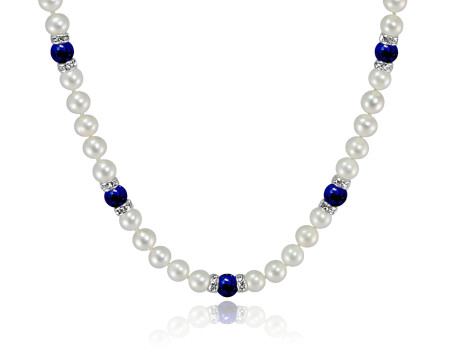 Freshwater Pearl and Gemstone Necklace