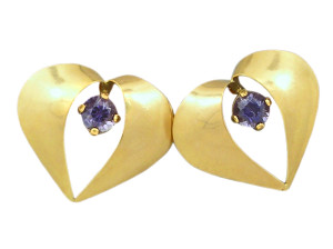 Beautiful Iolite earrings, made by Pearls International