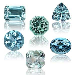 Some of the color examples of aquamarine.