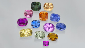 Some examples of sapphire color variation.