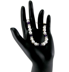 Pearl and Amethyst Bracelet
