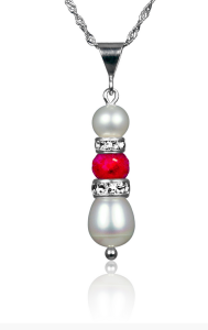 Ruby and Pearl Pendant