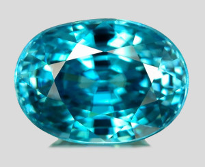 Faceted Blue Zircon