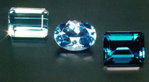 Blue topaz changes in color
