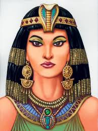 A drawing of Cleopatra.
