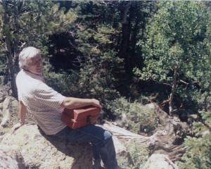 Jim on a rock hunt