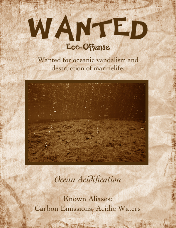 Ocean Acidification Most Wanted Poster
