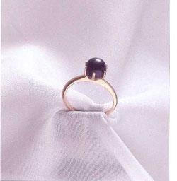A rare quahog pearl ring.