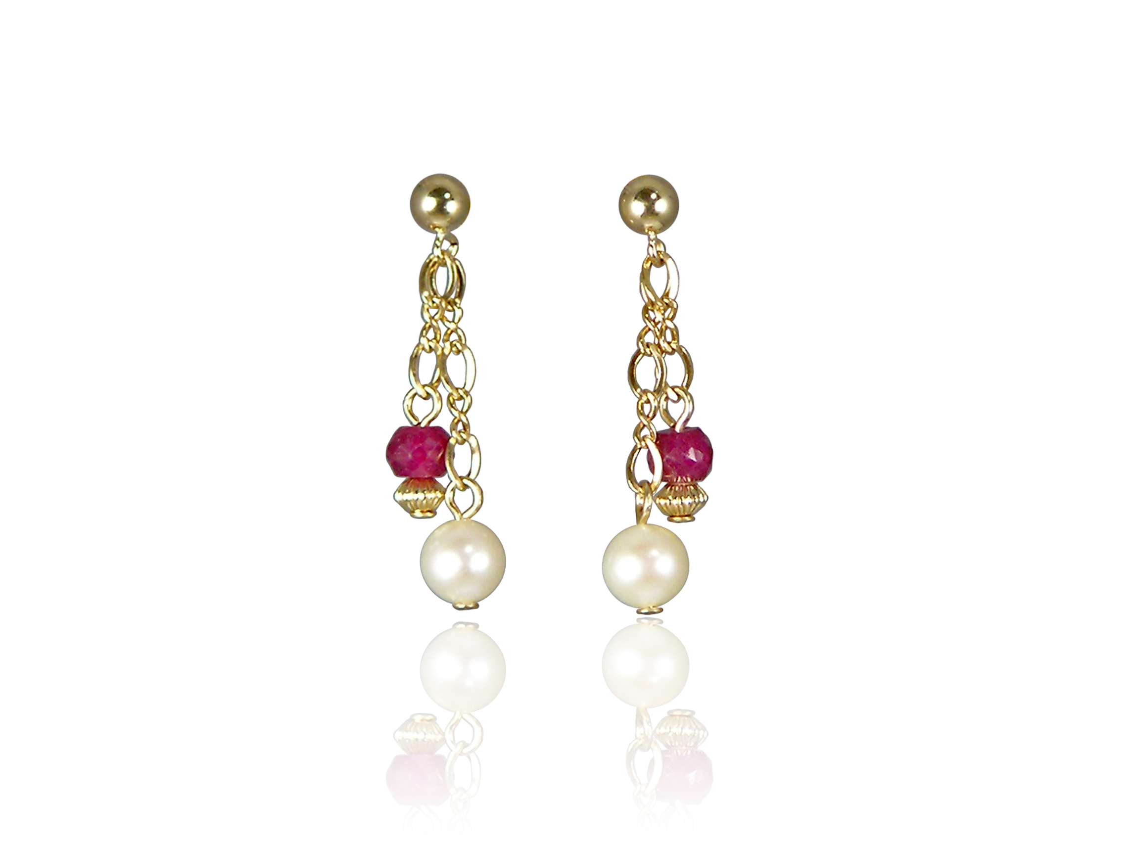 ruby and pearl earrings pearls international