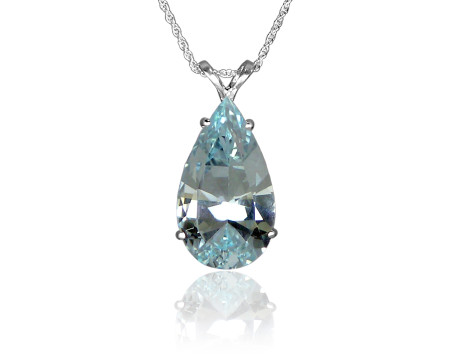 Ice Blue Topaz Pendant in Sterling Silver