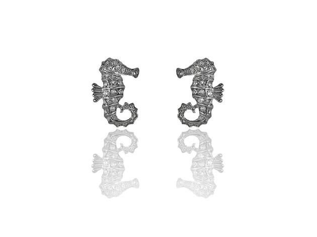 Swarovski Crystal Seahorse Earrings