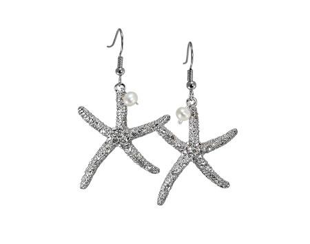 Swarovski Crystal Starfish Earrings