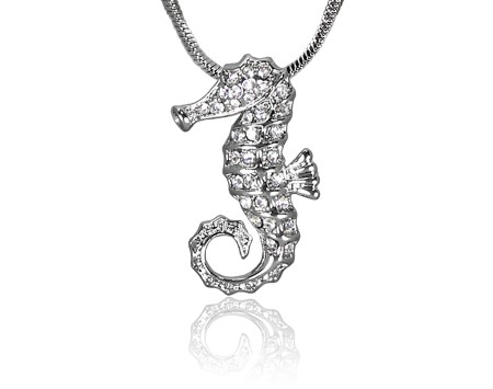 Small crystal starfish pendant pearls international seahorse pendant with swarovski crystal aloadofball Image collections