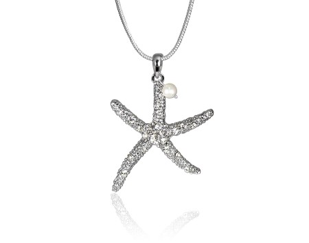 Starfish Pendant with Swarovski Crystal