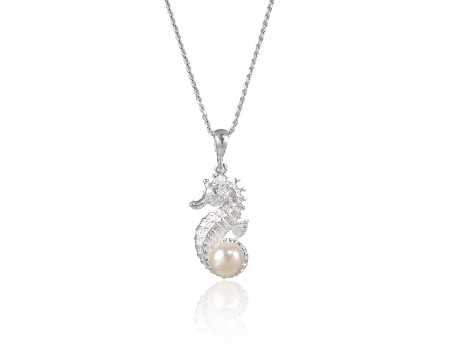 Atlantis Collection Seahorse and Freshwater Pearl Pendant