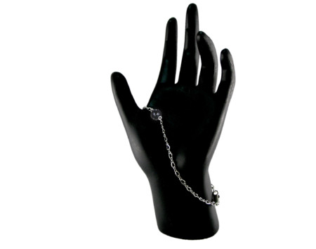 Black freshwater pearl constellation bracelet in Sterling silver