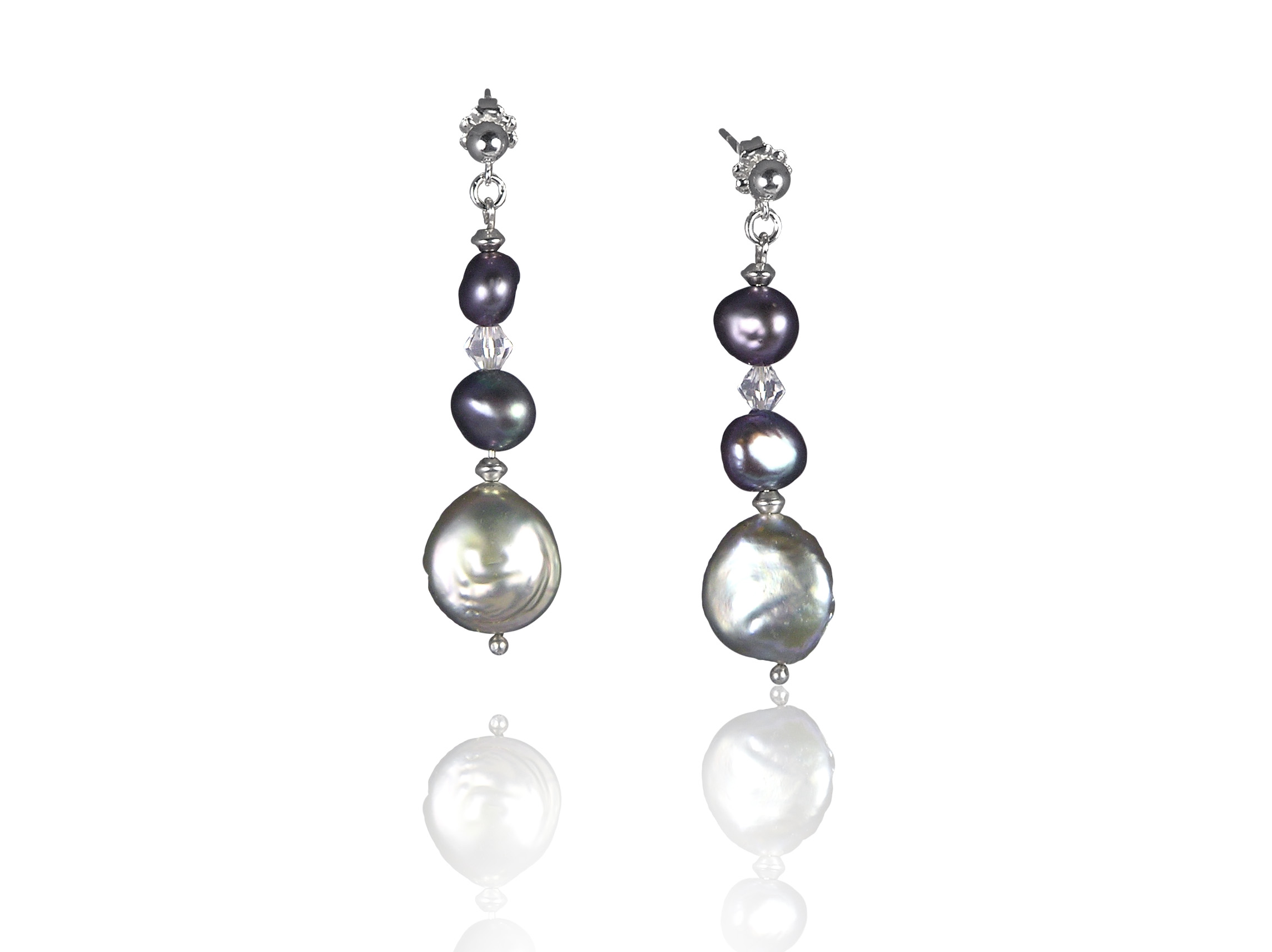 yellow white gold diamond pearls drop earrings with pearl freshwater leverback winterson leverbacks and