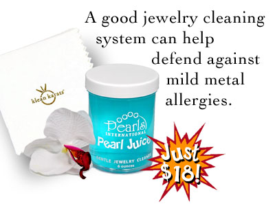 Keeping your jewelry clean and tarnish free can help prevent it from irritating sensitive skin.