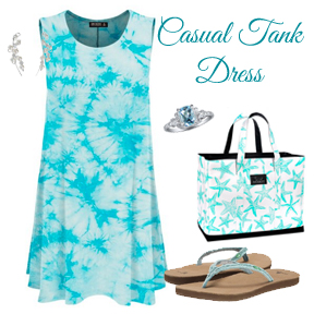 Style guide for a tank dress