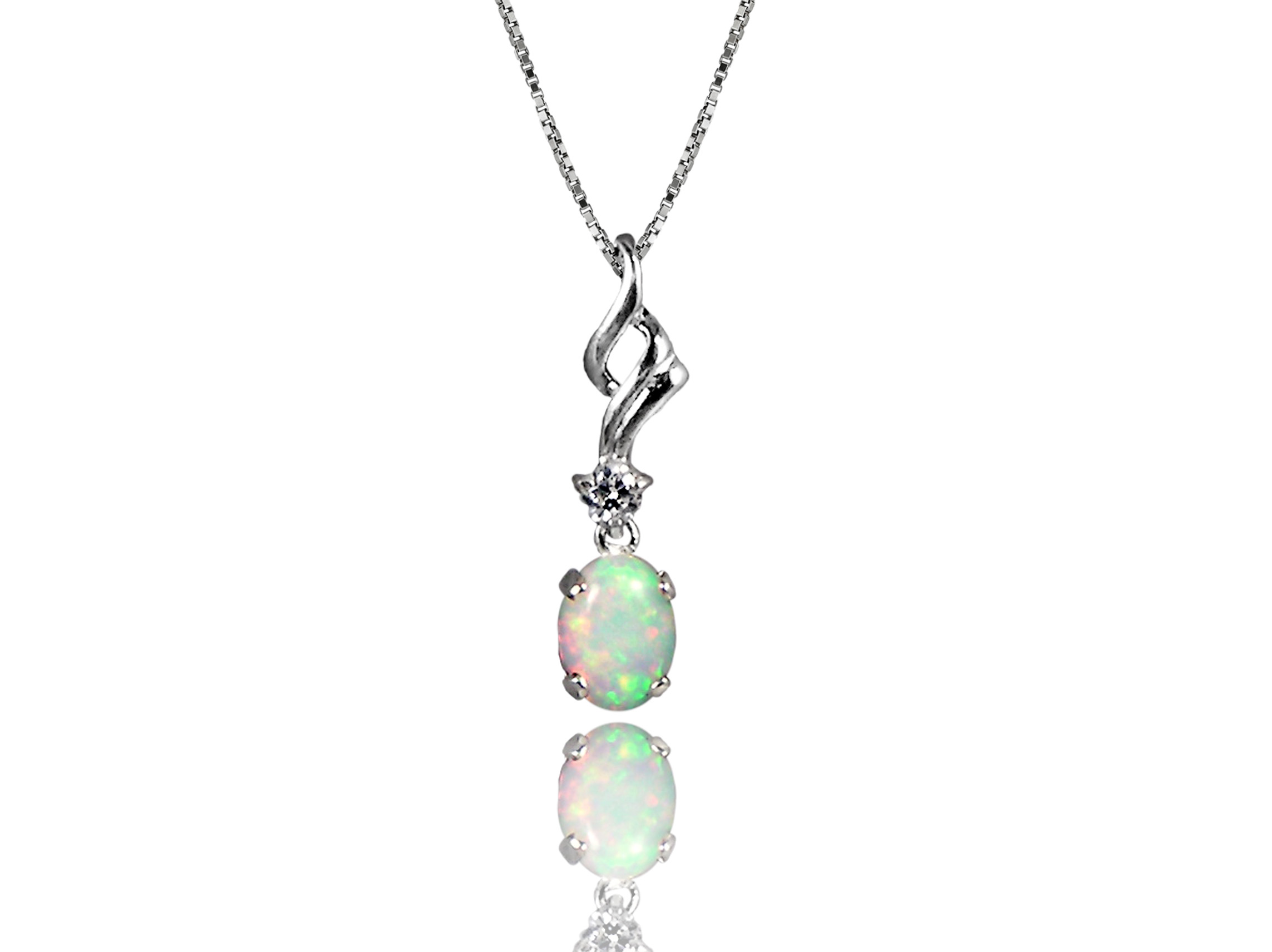 Opal pendant in Sterling silver