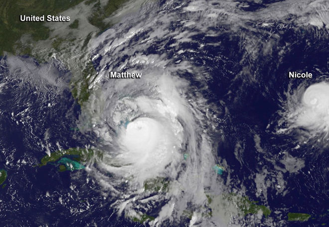 Hurricane Matthew Satellite View