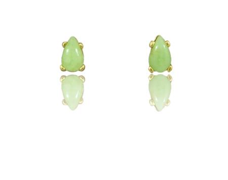 71a1cfb65 Teardrop Aztec Jade Stud Earrings in 14k Gold